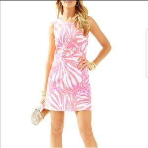 Lilly Pulitzer Callie Shift Dress Pink Sun Ray